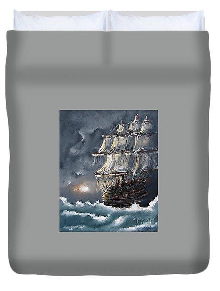 Ship Voyage Duvet Cover