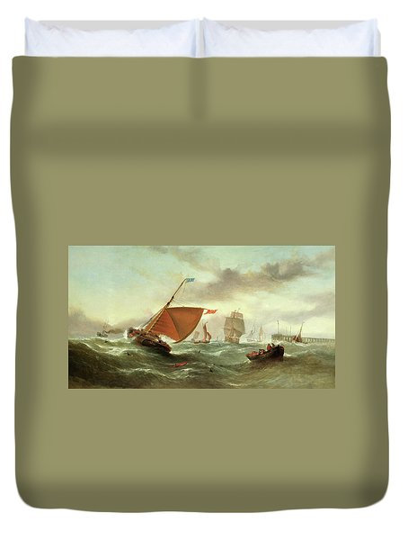 Shipping In A Squall Duvet Cover