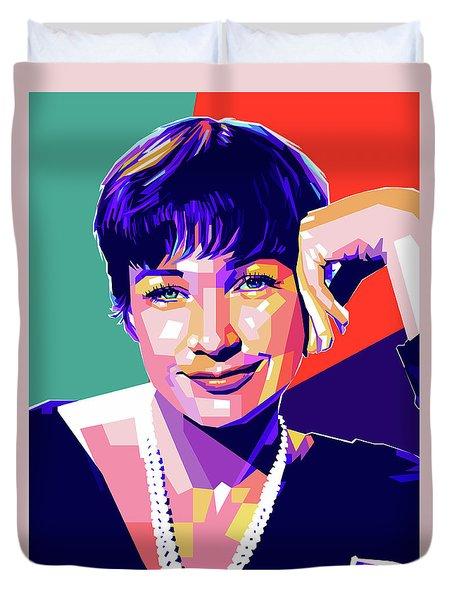 Shirley Maclaine Pop Art Duvet Cover