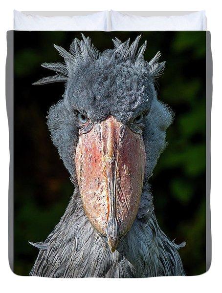 Shoe-billed Stork Duvet Cover