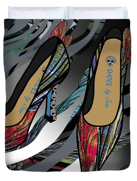 Shoes By Joan - Dragon Fly Wing Pumps Duvet Cover