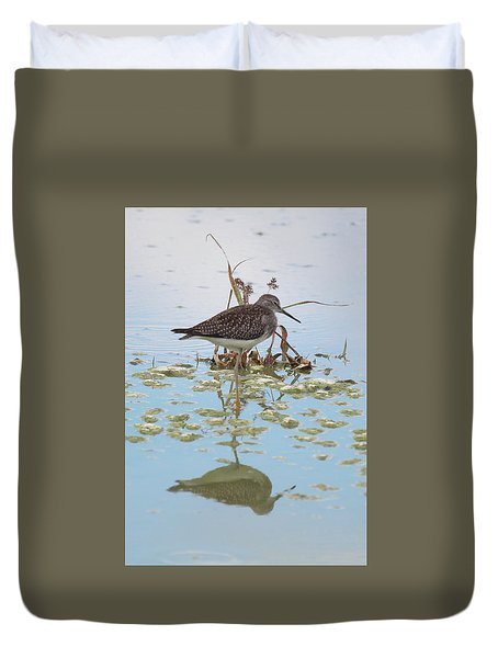 Shorebird Reflection Duvet Cover