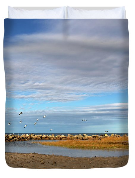 Shoreside Serenity Cape Cod Duvet Cover
