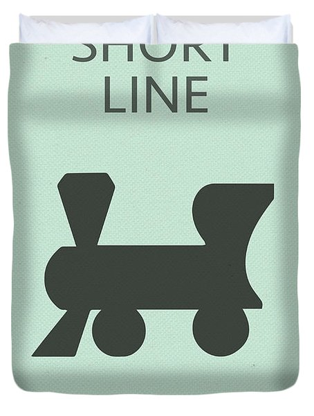 Short Line Railroad Vintage Retro Monopoly Board Game Card Duvet Cover