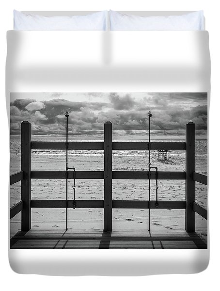 Duvet Cover featuring the photograph Showers by Steve Stanger