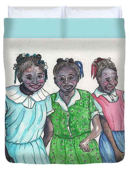 Shy Girls From South Alabama Duvet Cover