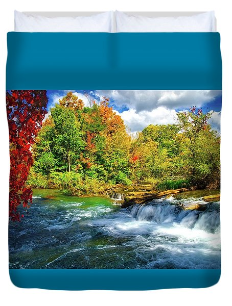 Duvet Cover featuring the photograph Sidelined Beauty by Lynn Bauer