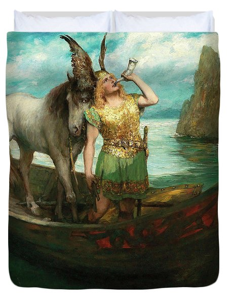 Siegfried's Rhine Journey, 1908 Duvet Cover