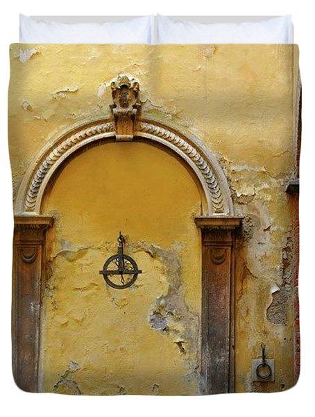 Sienna Fountain Courtyard Duvet Cover