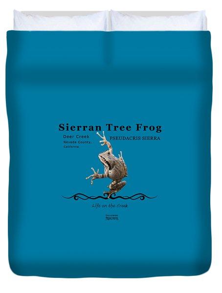 Sierran Tree Frog Pseudacris Sierra Duvet Cover