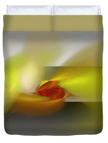 Signals Through The Flames Duvet Cover