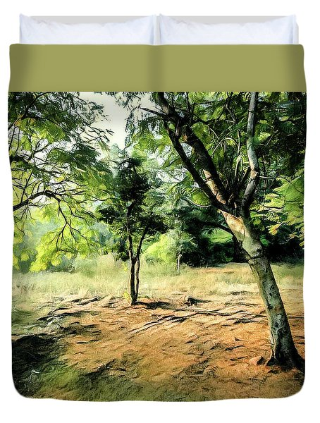 Silence Of Forest Duvet Cover