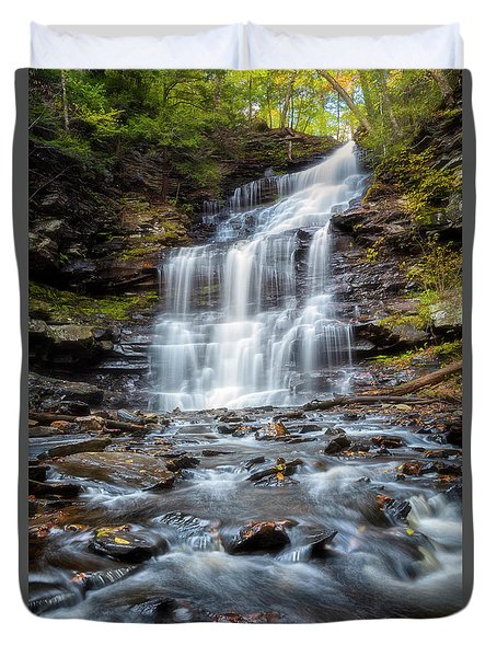 Duvet Cover featuring the photograph Silky Flow by Russell Pugh