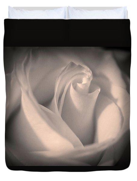 Silky Pastel Rose Duvet Cover