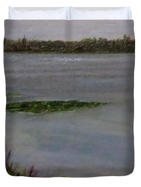 Silver Lake During The Wildfires Duvet Cover