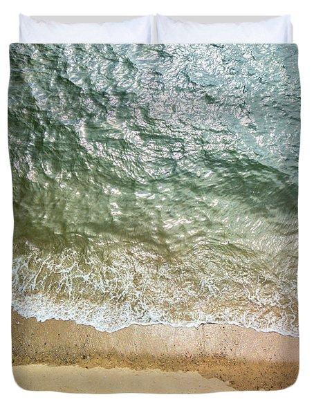 Simple Beach Waves Duvet Cover