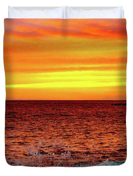 Simple Warm Splash Duvet Cover