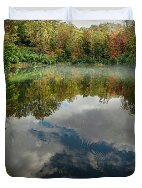 Sims Pond Blowing Rock North Carolina Duvet Cover