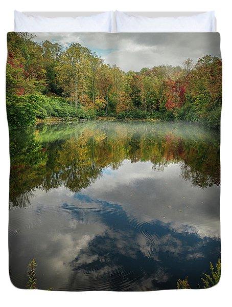 Sims Pond Blowing Rock North Carolina Duvet Cover