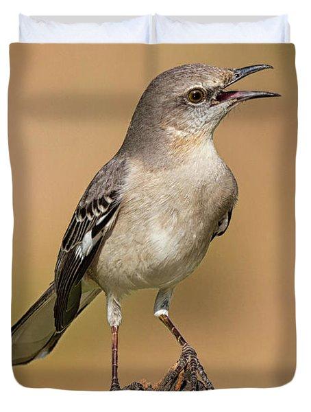 Singing Mockingbird Duvet Cover