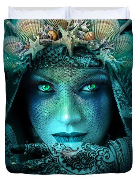 Sister Green Eyes Duvet Cover
