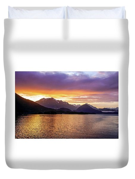 Sitka Sunrise Duvet Cover