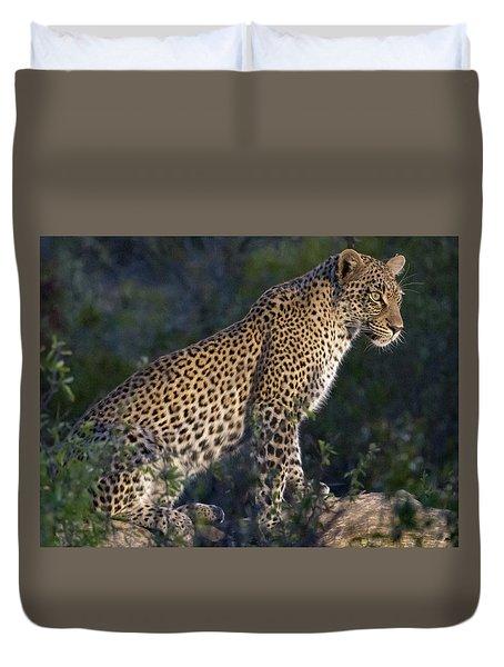 Sitting Leopard Duvet Cover