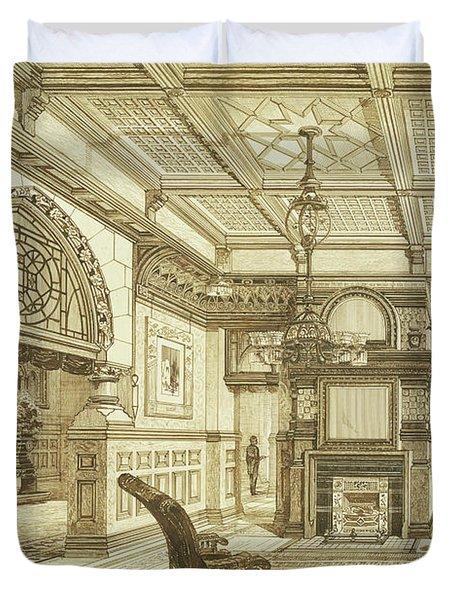 Sitting Room Of Bardwold, Merion Pa Duvet Cover