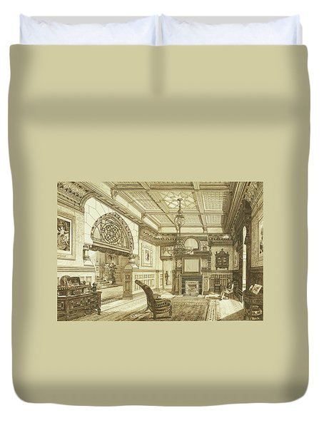 Sitting Room Of Bardwold, Merion Pa Duvet Cover