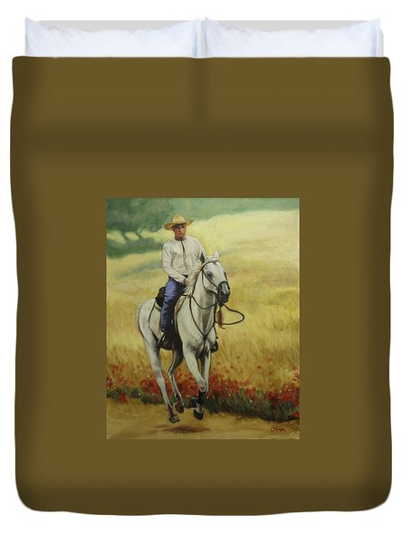Six Feet Off The Ground Duvet Cover