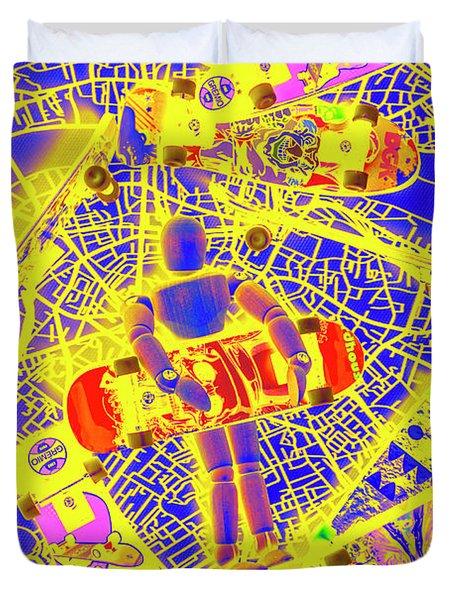Skate City Duvet Cover