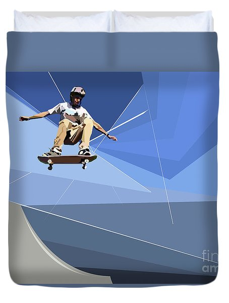 Skateboarder Duvet Cover