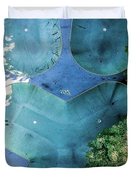 Skatepark - Aerial Photography Duvet Cover