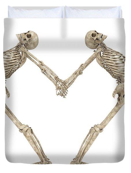 Skeleton Yoga 001 Duvet Cover