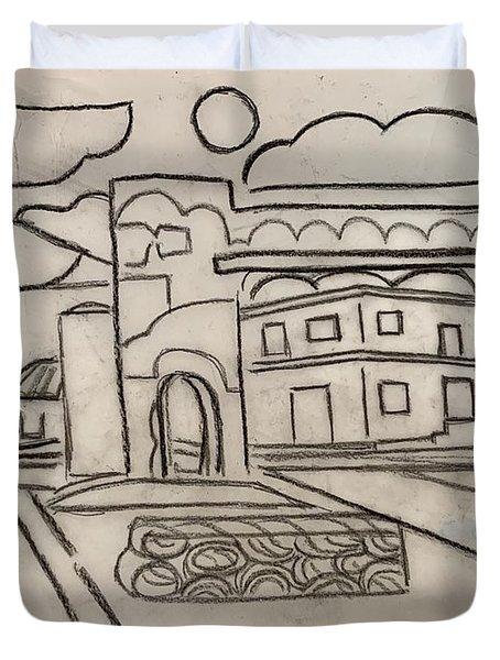 Sketch Of Arch Laguna Del Sol Duvet Cover