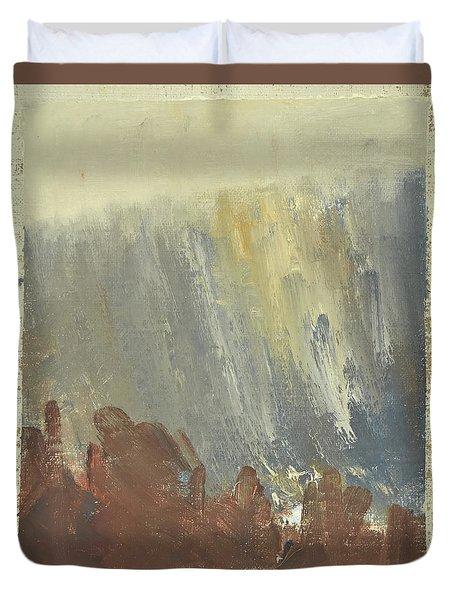 Skogklaedd Fjaellvaegg I Hoestdimma- Mountain Side In Autumn Mist, Saelen _1237, Up To 90x120 Cm Duvet Cover