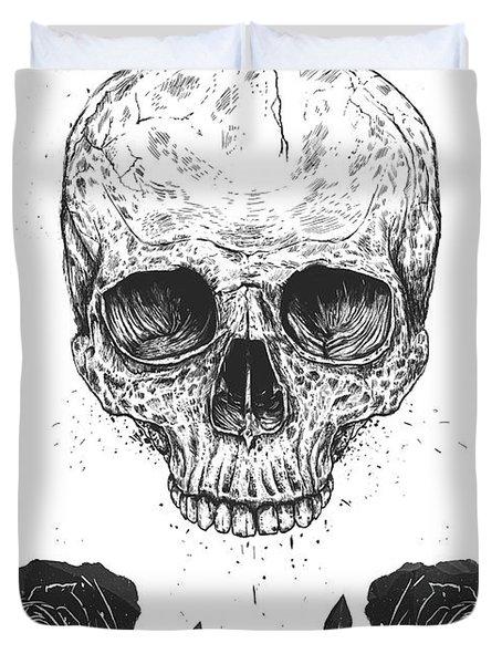 Skull N' Roses Duvet Cover