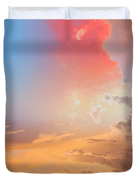Sky Fight Duvet Cover