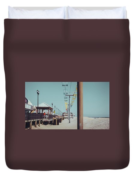Duvet Cover featuring the photograph Sky Ride by Steve Stanger