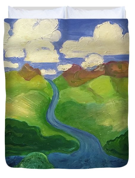 Sky River To Sea Duvet Cover