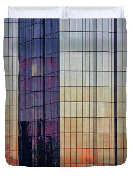 Skyscraper Sunset Duvet Cover