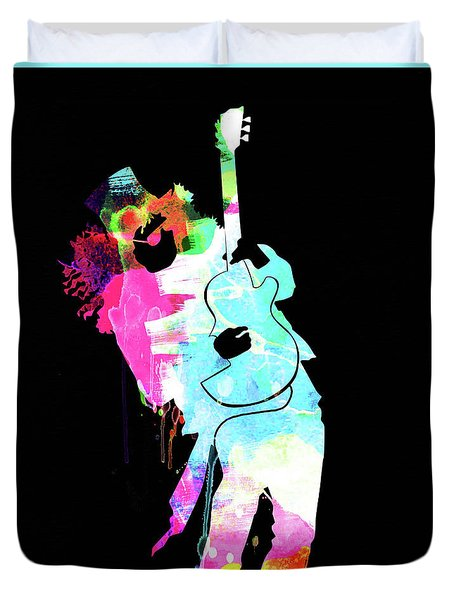 Slash Watercolor II Duvet Cover