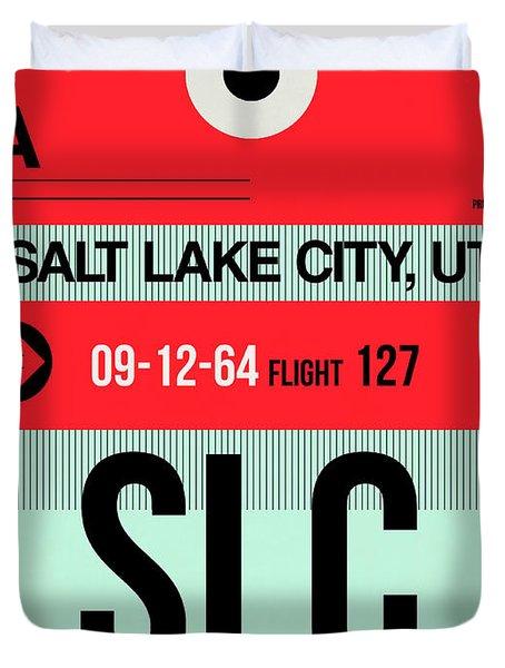Slc Salt Lake City Luggage Tag I Duvet Cover