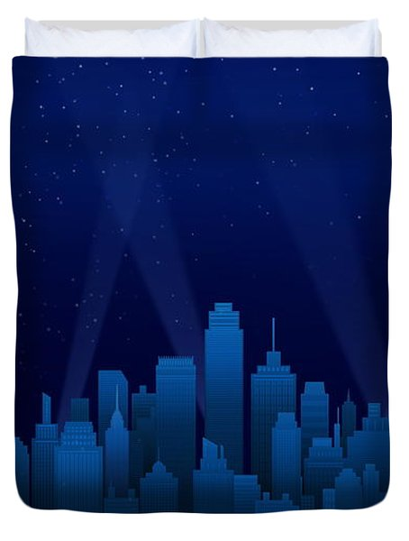 Sleeping City Duvet Cover