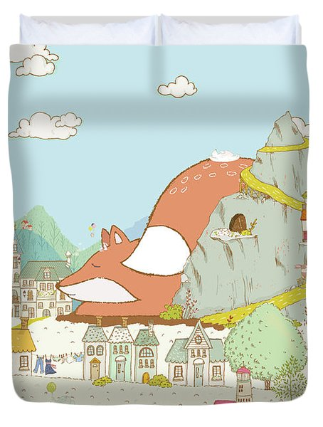 The Sleeping Fox Duvet Cover
