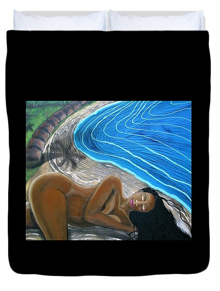 Sleeping Nude Duvet Cover