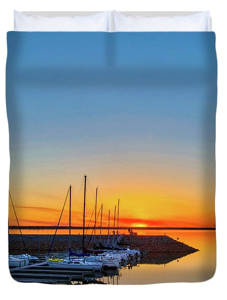 Sleeping Yachts Duvet Cover