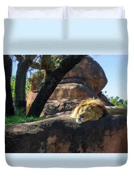 Sleepy Lion Duvet Cover