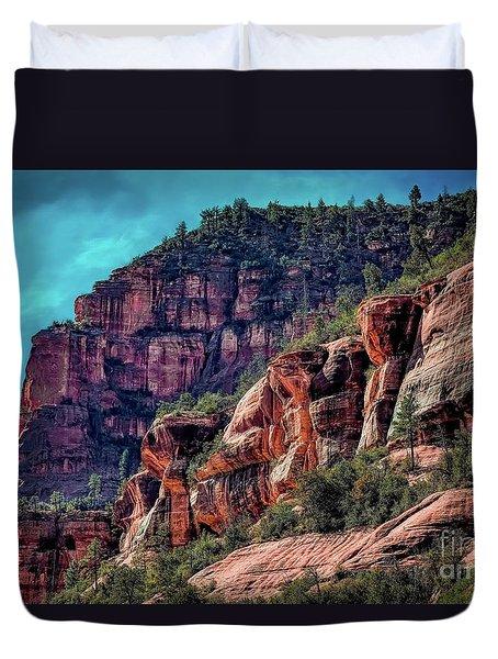 Slide Rock State Park Arizona Duvet Cover