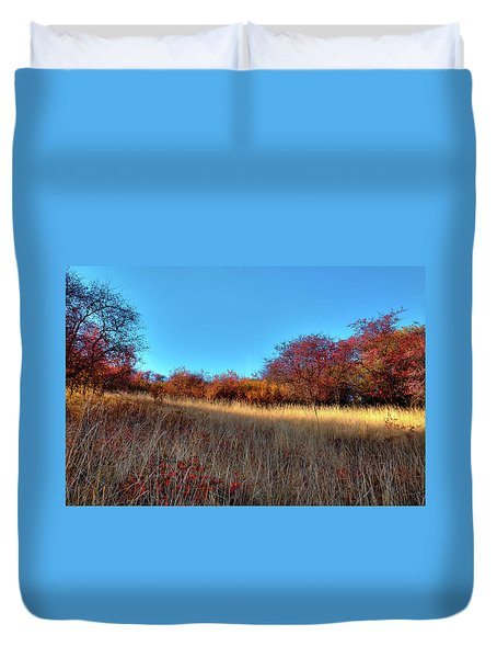 Duvet Cover featuring the photograph Sliver Of Sunlight by David Patterson